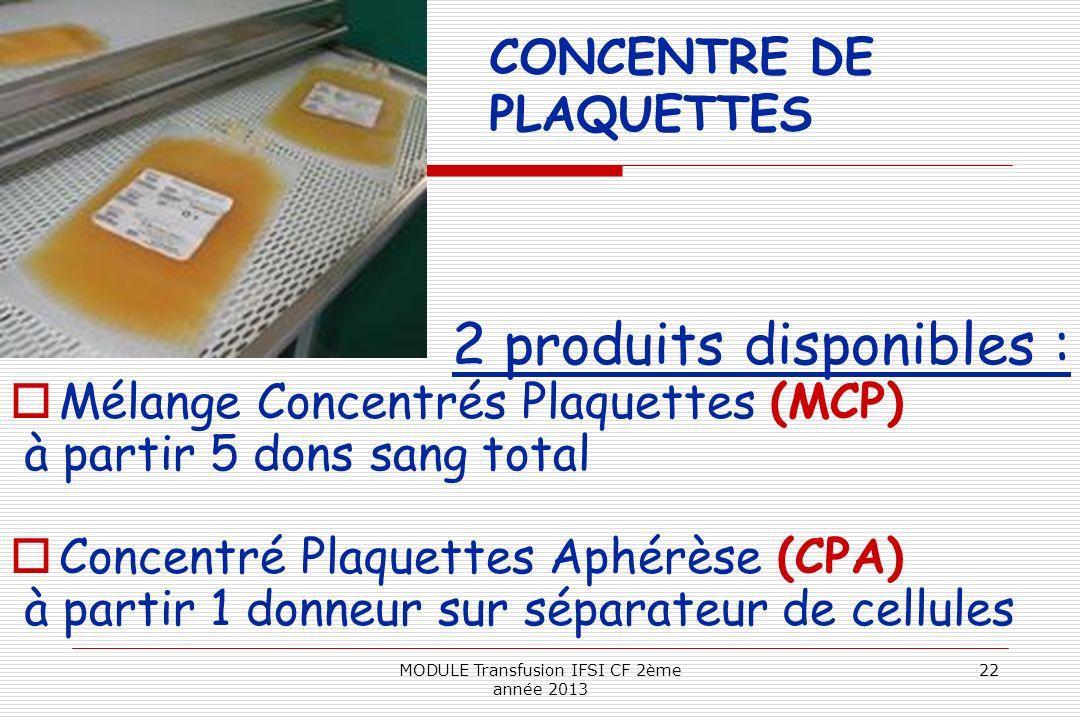 CONCENTRE DE PLAQUETTES