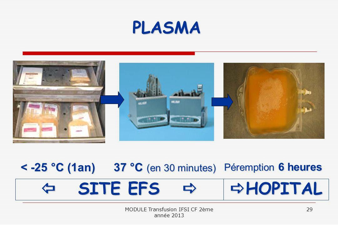 MODULE Transfusion IFSI CF 2ème année 2013