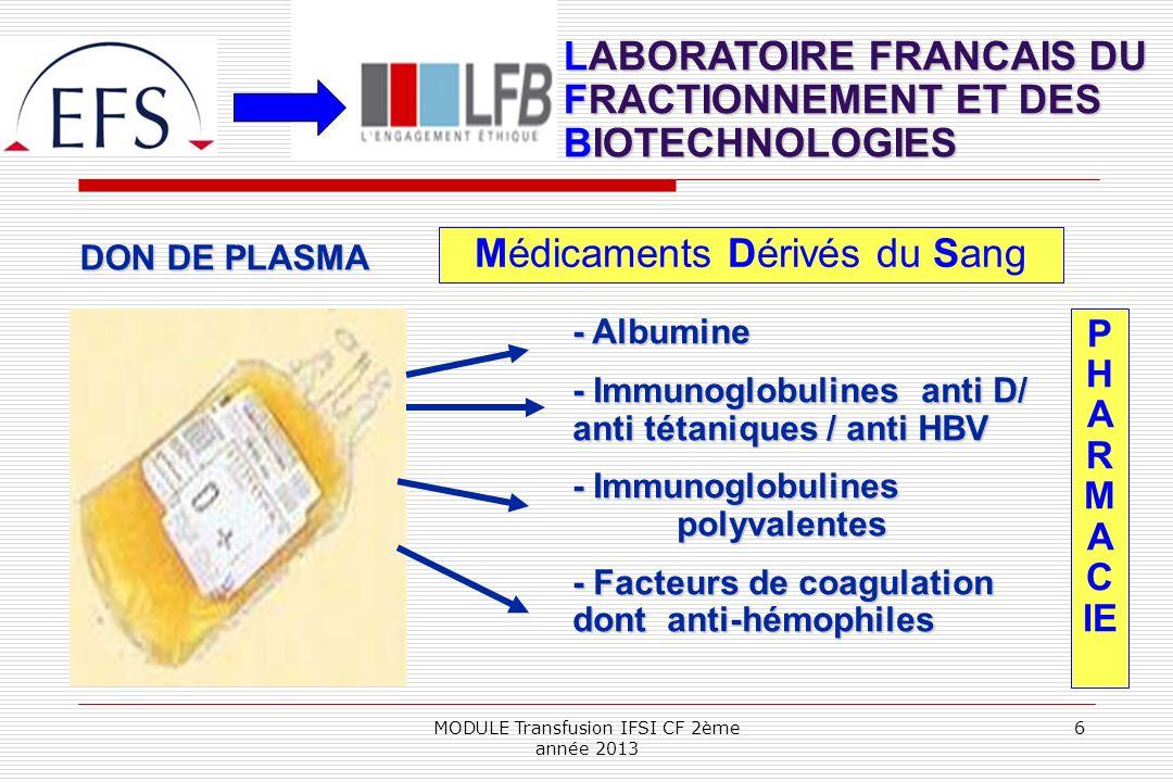 LABORATOIRE FRANCAIS DU FRACTIONNEMENT ET DES BIOTECHNOLOGIES