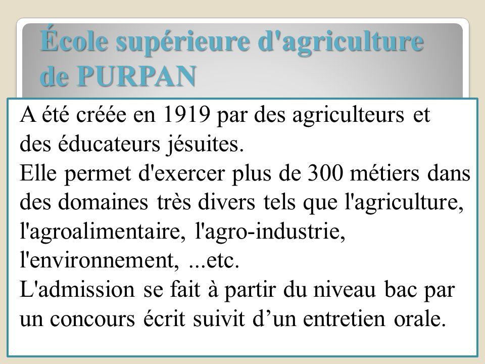École supérieure d agriculture de PURPAN