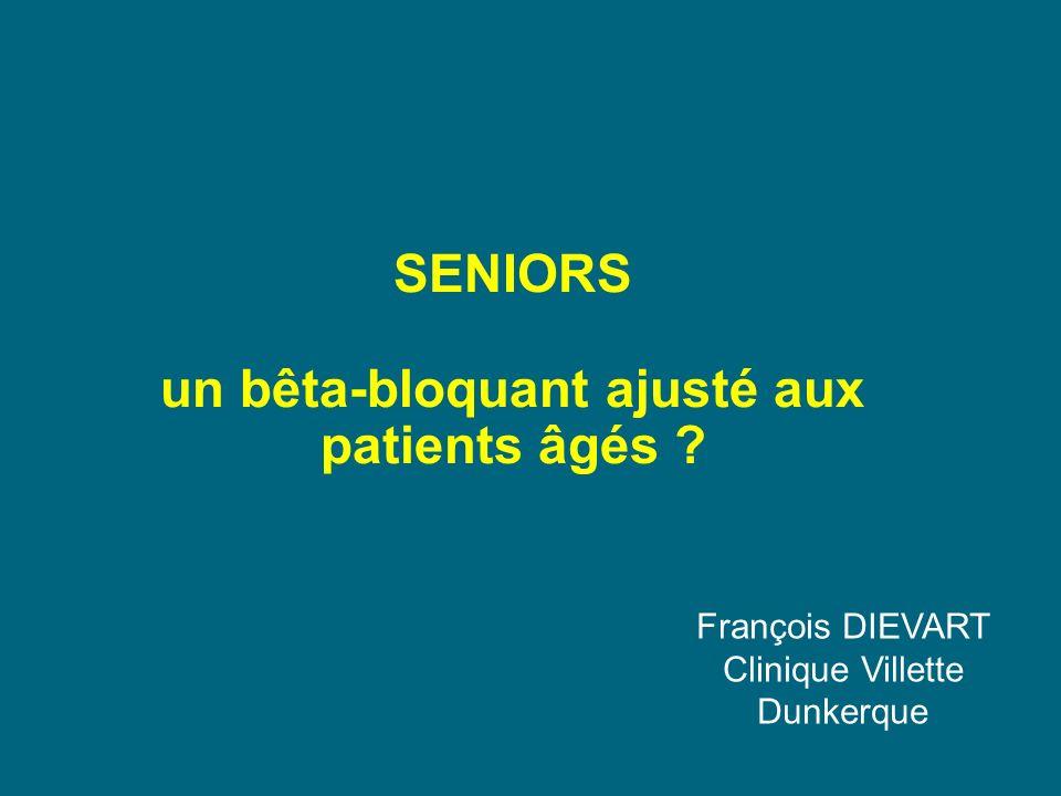 SENIORS un bêta-bloquant ajusté aux patients âgés