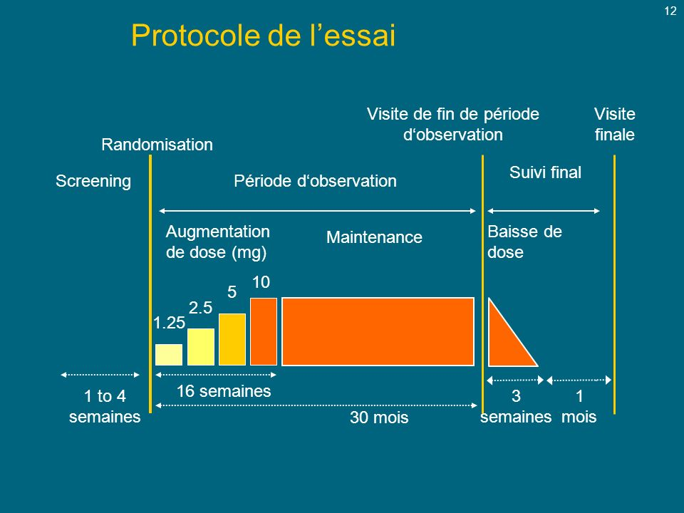 Protocole de l'essai Maintenance Screening Période d'observation