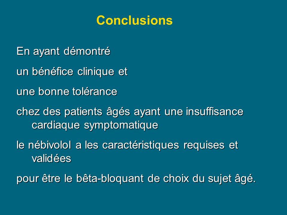 Conclusions En ayant démontré un bénéfice clinique et