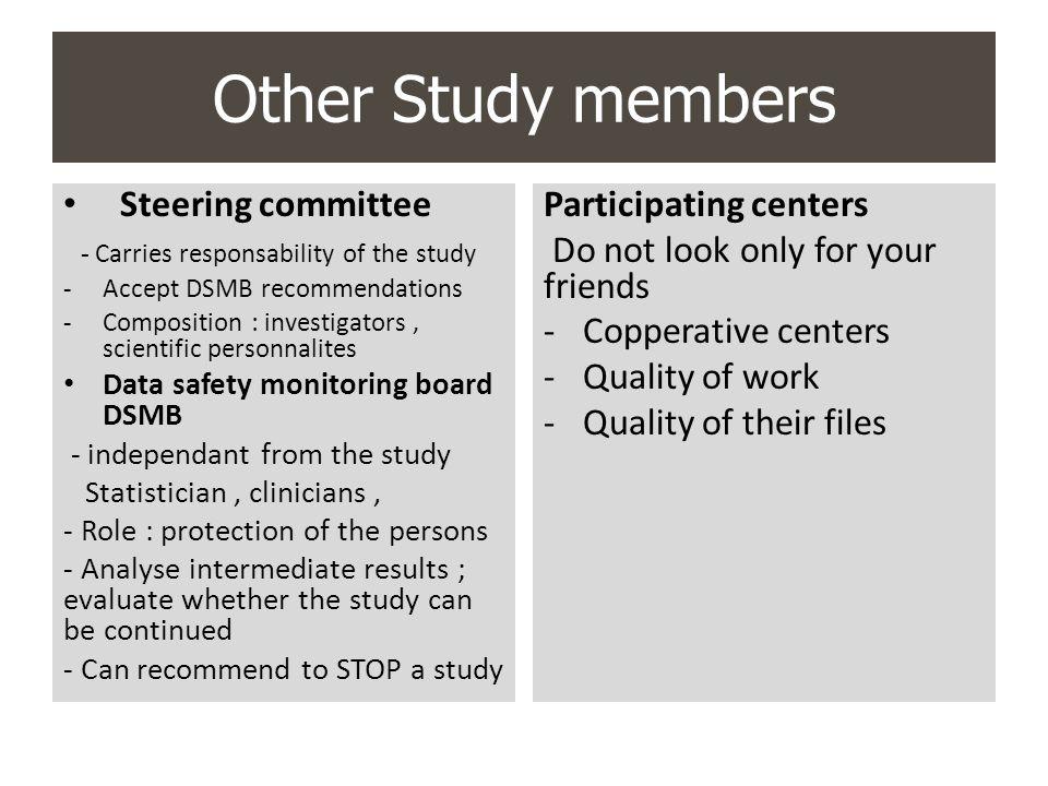 Other Study members Steering committee