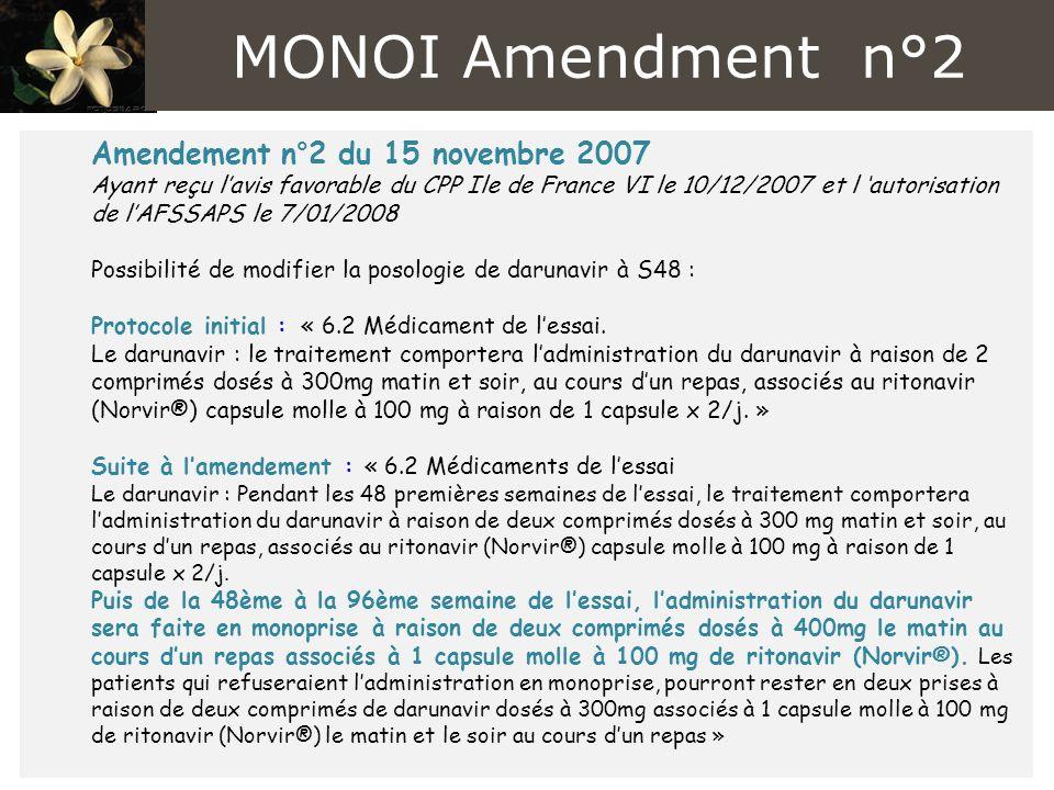 MONOI Amendment n°2 Amendement n°2 du 15 novembre 2007