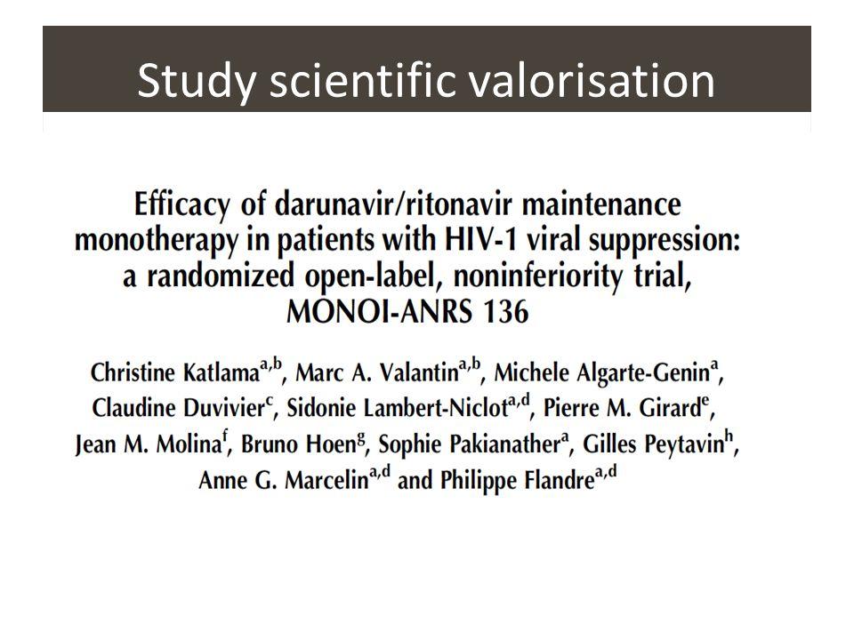 Study scientific valorisation