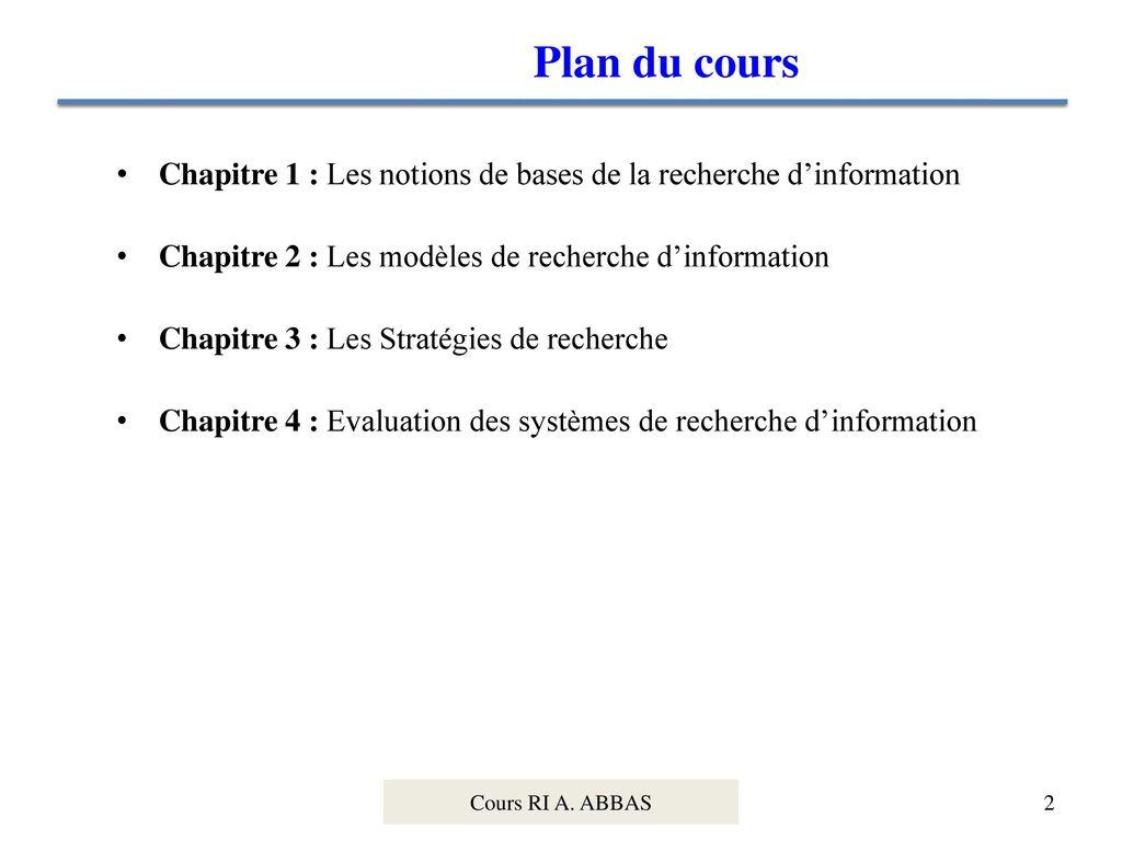 Recherche d information ppt t l charger for Recherche de plan