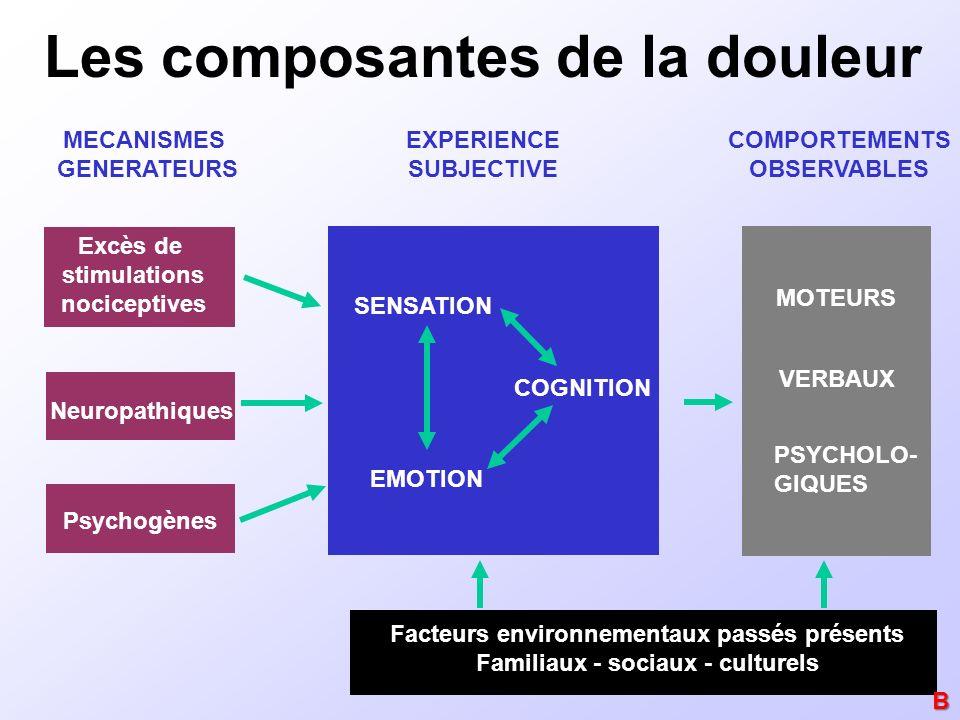 Les composantes de la douleur