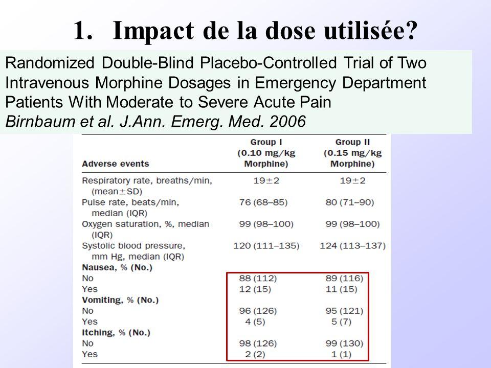 Impact de la dose utilisée