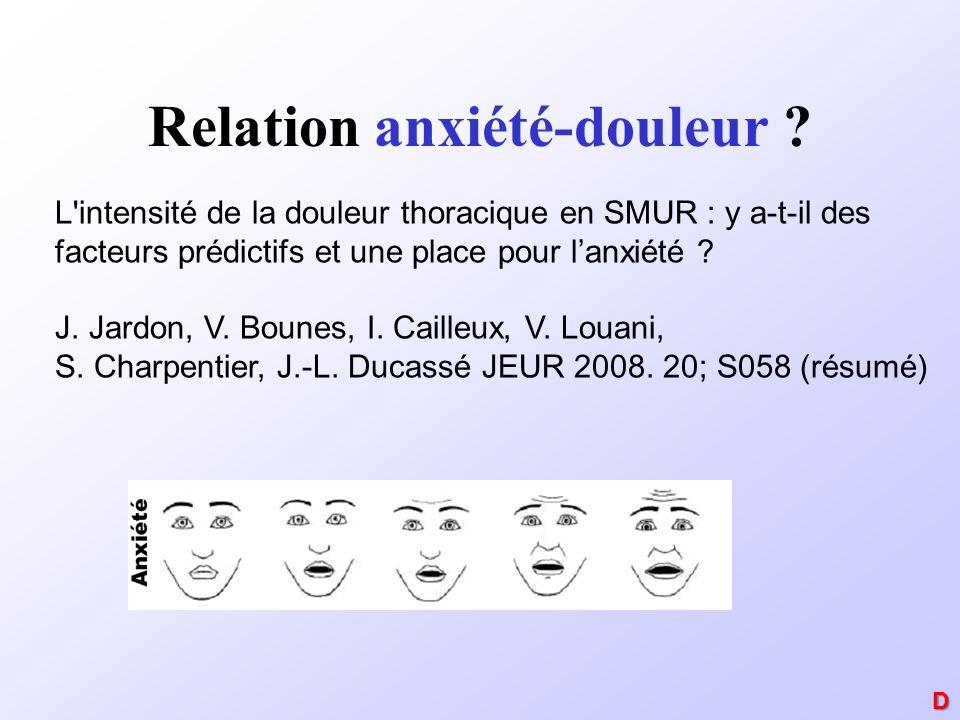 Relation anxiété-douleur