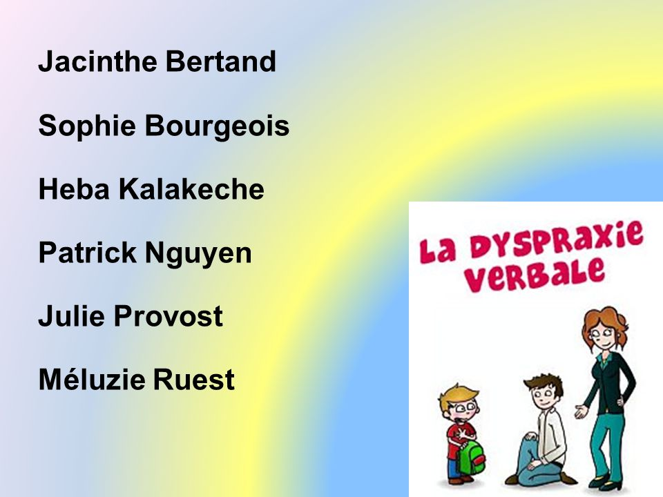 Jacinthe Bertand Sophie Bourgeois Heba Kalakeche Patrick Nguyen Julie Provost Méluzie Ruest