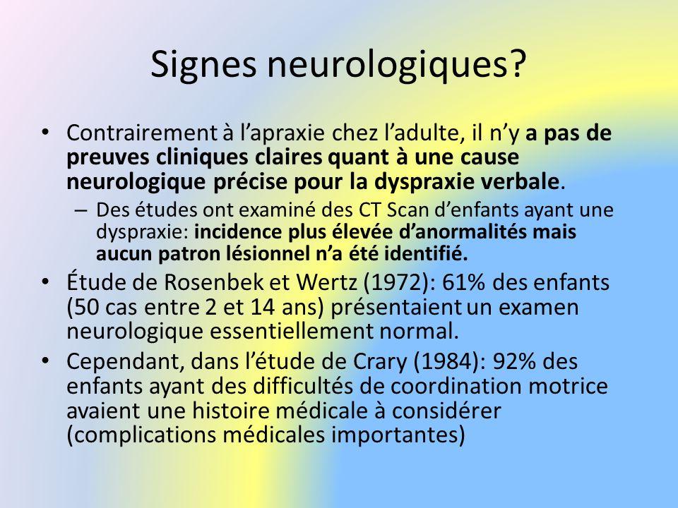 Signes neurologiques