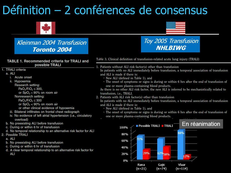 Définition – 2 conférences de consensus