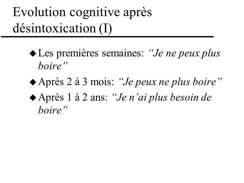 Evolution cognitive après désintoxication (I)