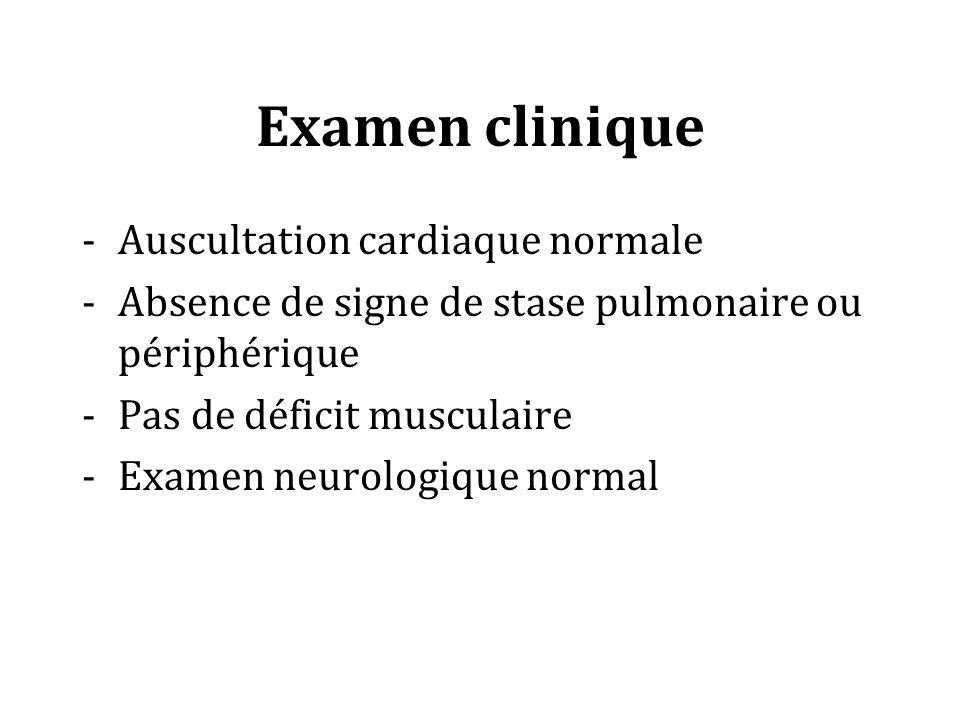 Examen clinique Auscultation cardiaque normale