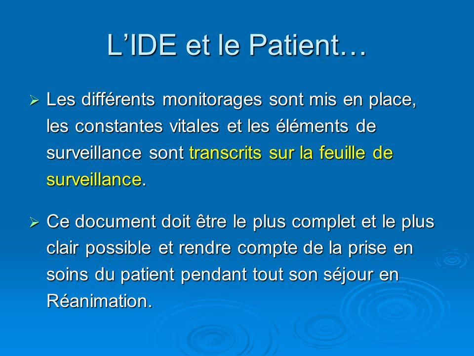 L'IDE et le Patient…