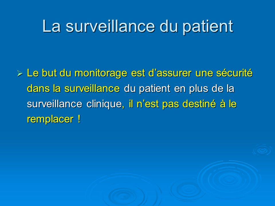 La surveillance du patient