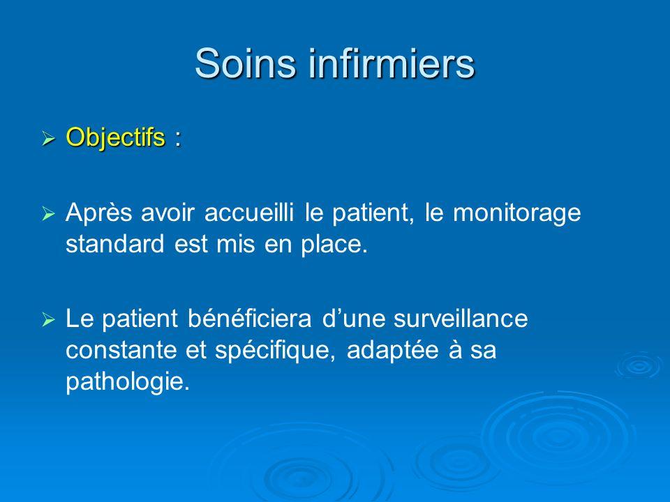 Soins infirmiers Objectifs :