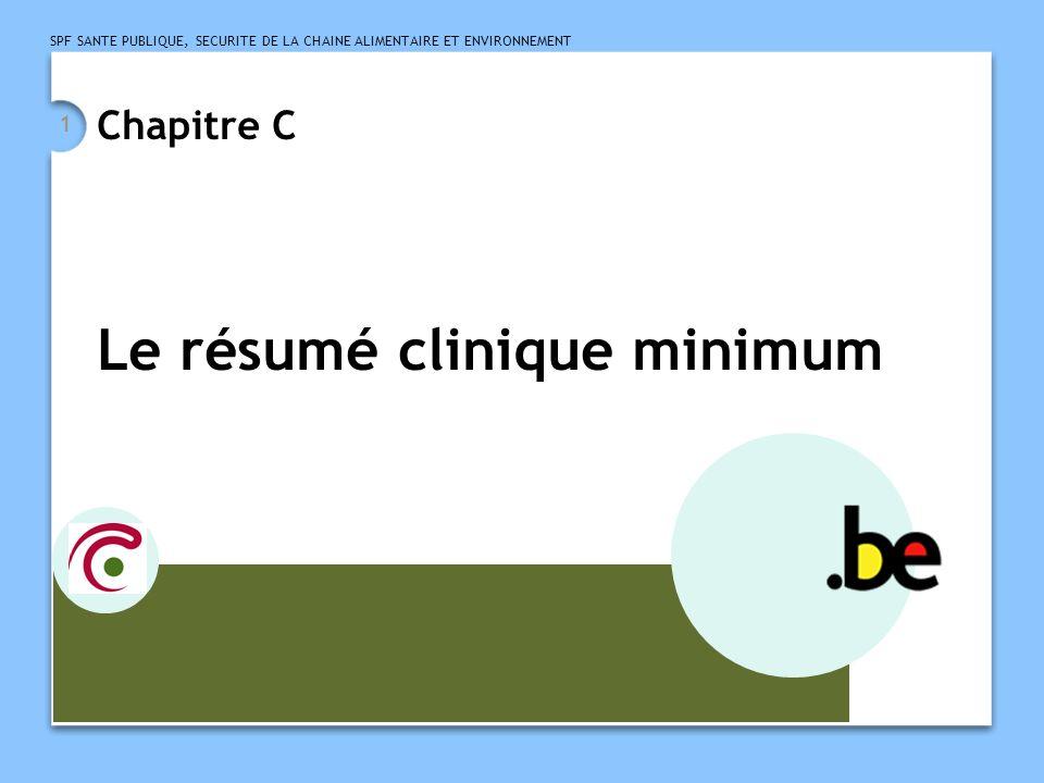 Le résumé clinique minimum