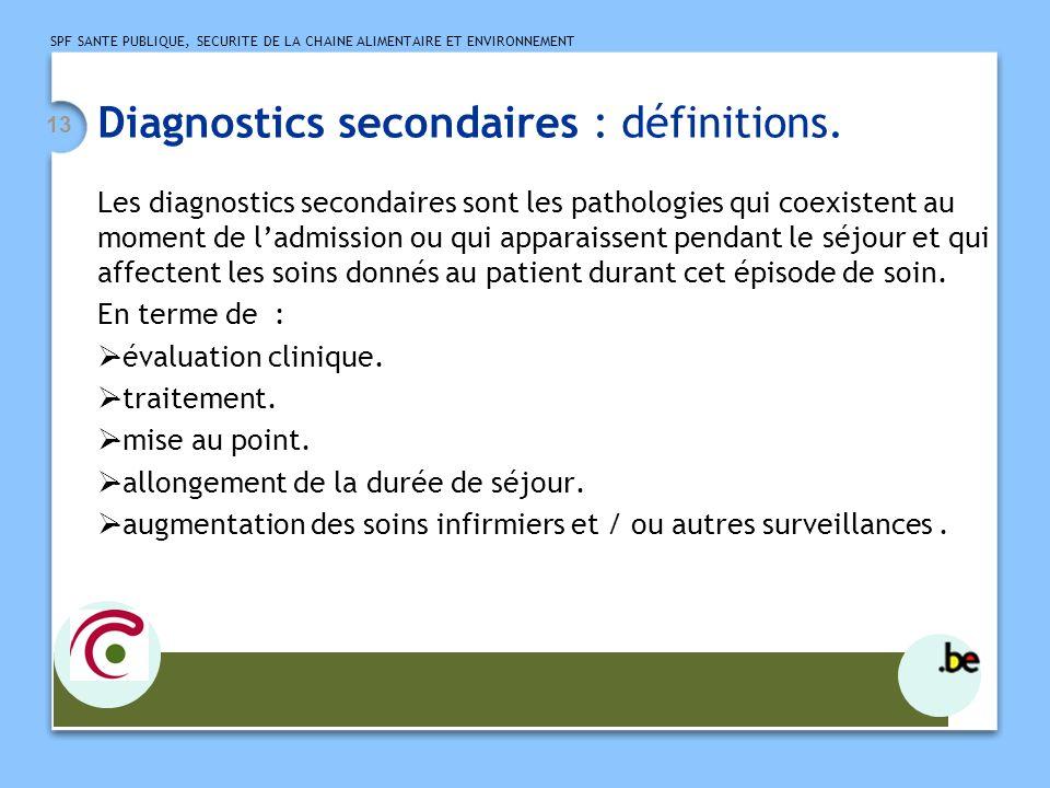Diagnostics secondaires : définitions.
