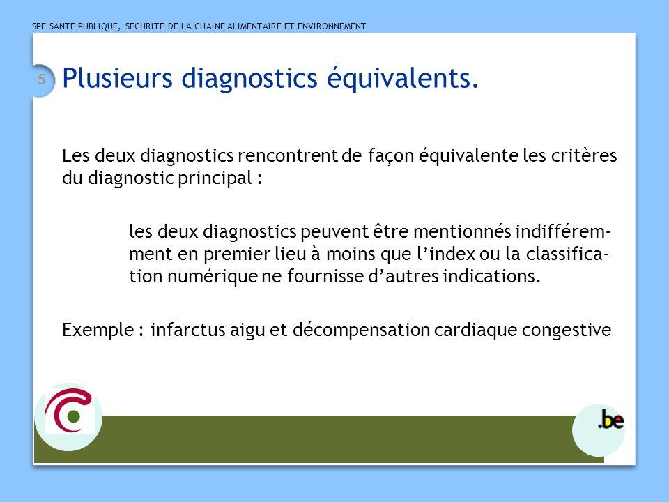 Plusieurs diagnostics équivalents.