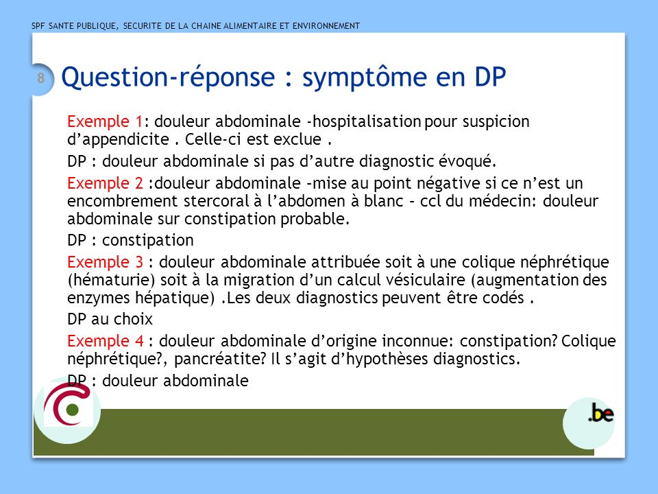 Question-réponse : symptôme en DP