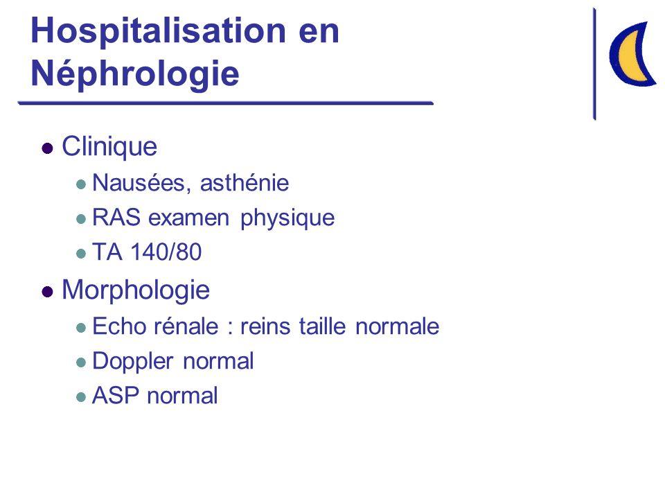 Hospitalisation en Néphrologie