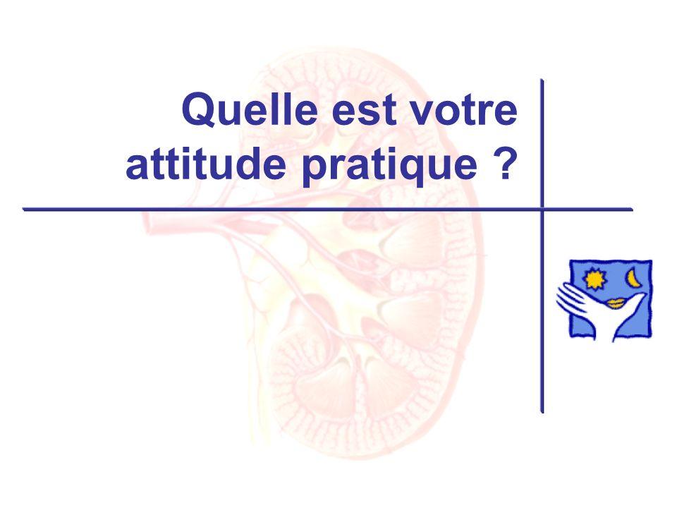 Quelle est votre attitude pratique