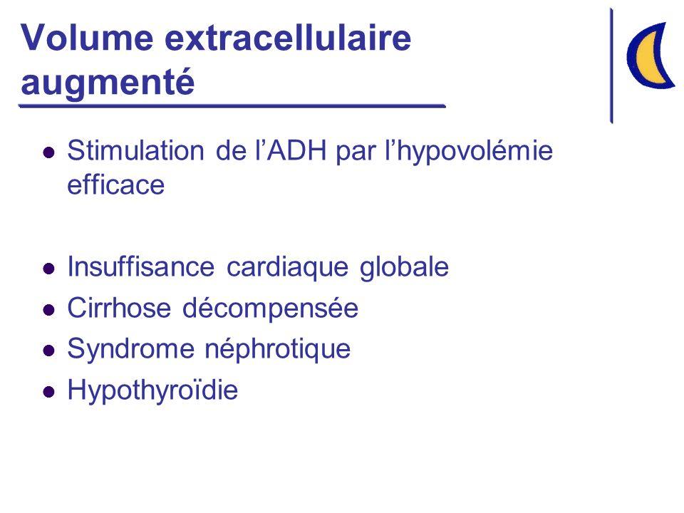 Volume extracellulaire augmenté