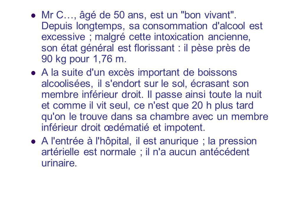 Mr C…, âgé de 50 ans, est un bon vivant