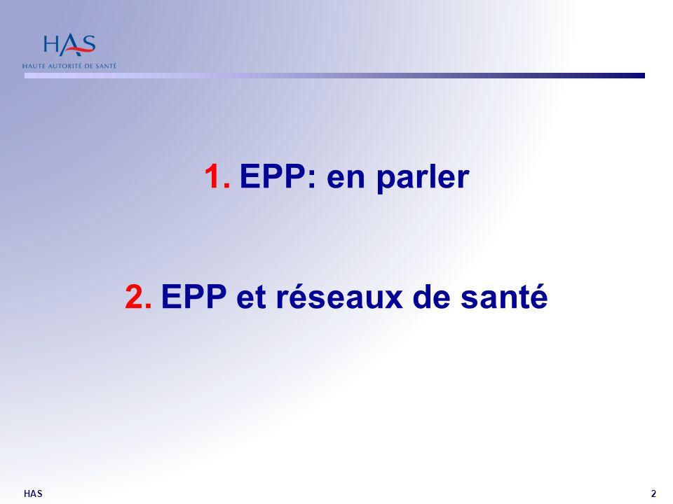 EPP: en parler EPP et réseaux de santé