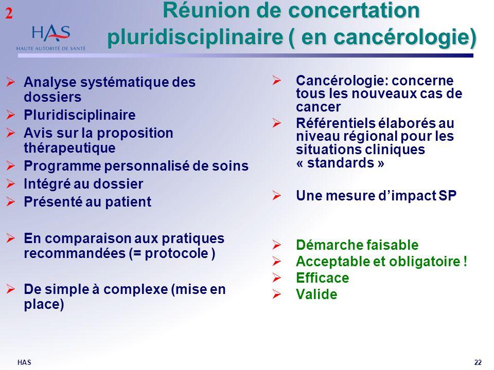 Réunion de concertation pluridisciplinaire ( en cancérologie)