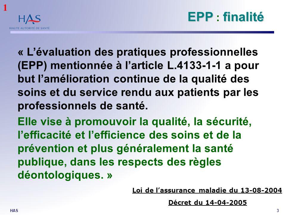 1 EPP : finalité.