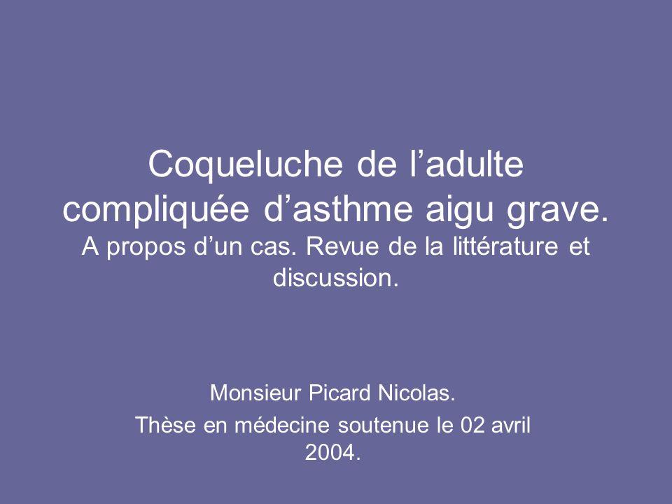 Monsieur Picard Nicolas. Thèse en médecine soutenue le 02 avril 2004.