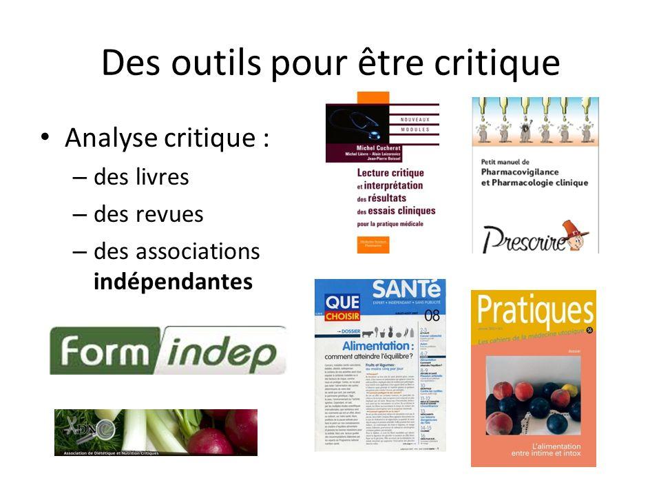 Des outils pour être critique