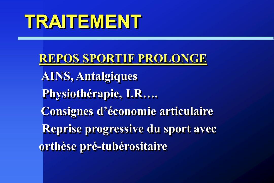 TRAITEMENT REPOS SPORTIF PROLONGE AINS, Antalgiques