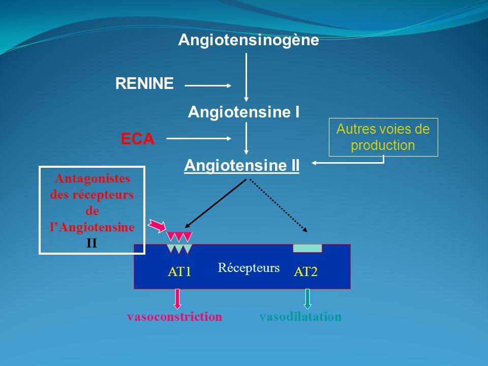 Antagonistes des récepteurs de l'Angiotensine II
