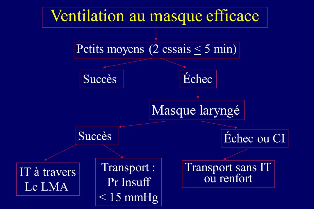 Ventilation au masque efficace
