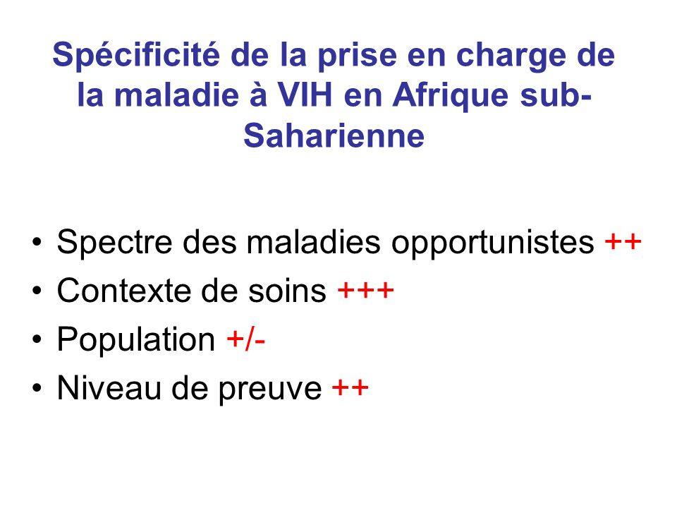 Spécificité de la prise en charge de la maladie à VIH en Afrique sub-Saharienne