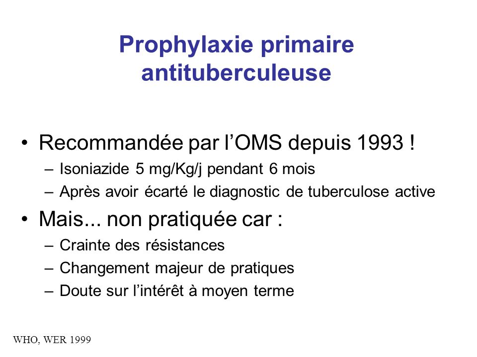 Prophylaxie primaire antituberculeuse