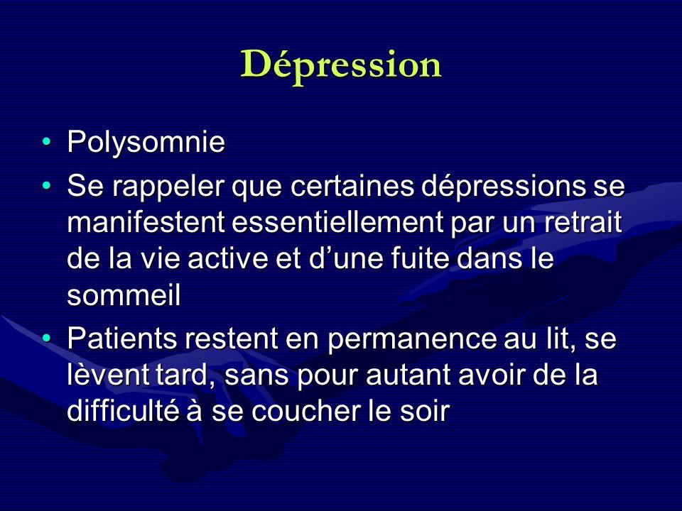 Dépression Polysomnie