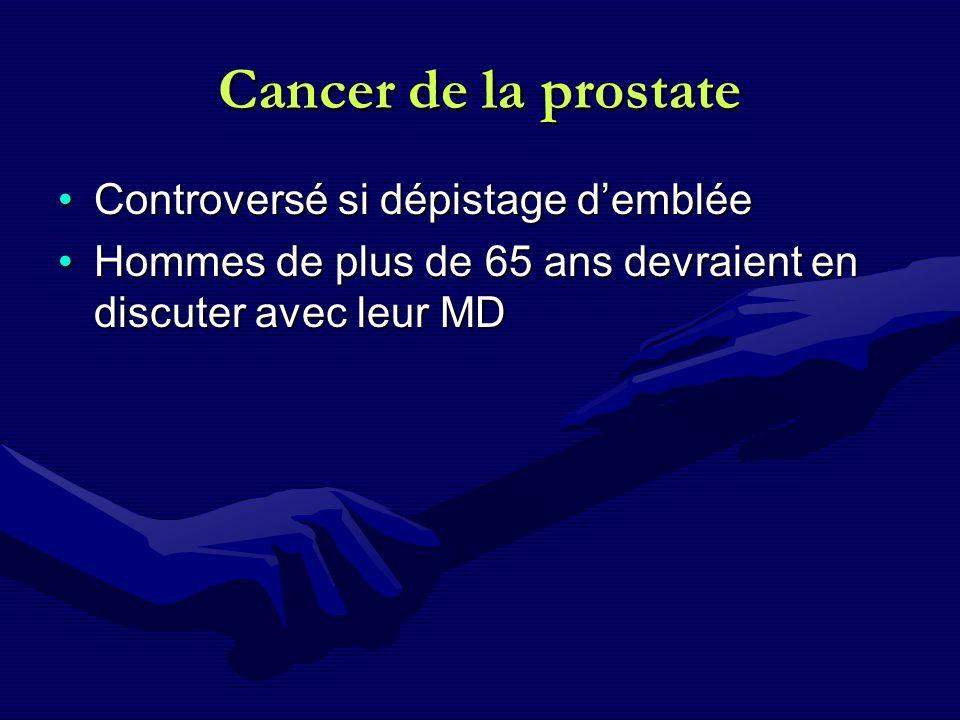 Cancer de la prostate Controversé si dépistage d'emblée