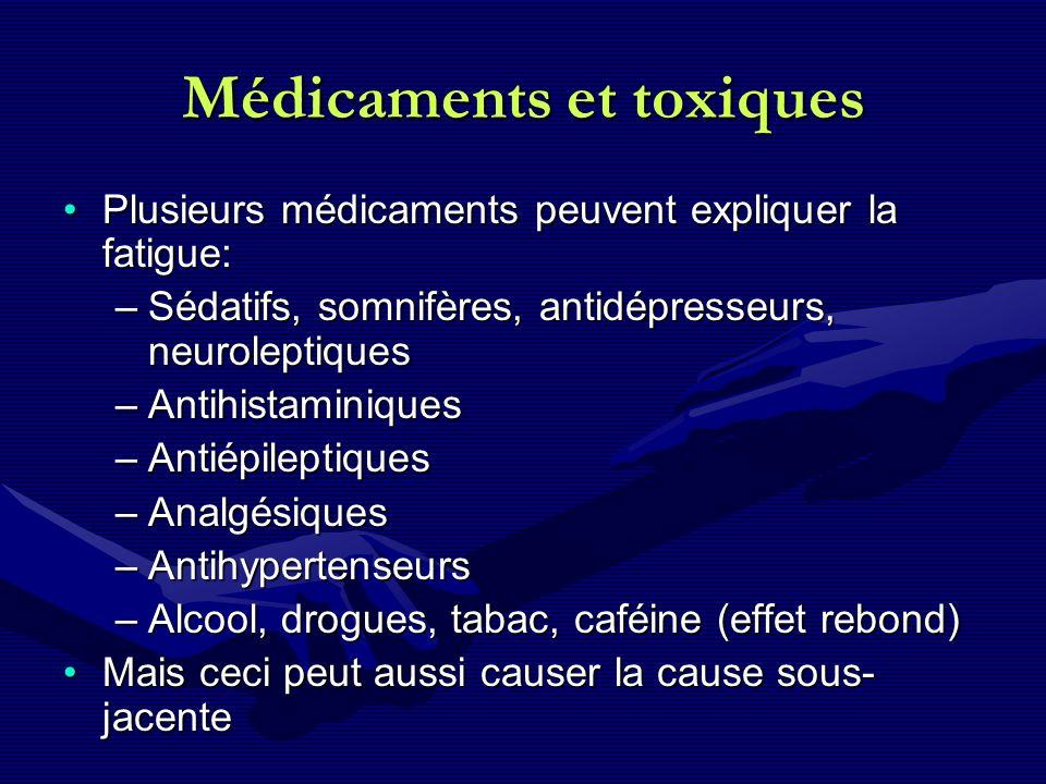 Médicaments et toxiques
