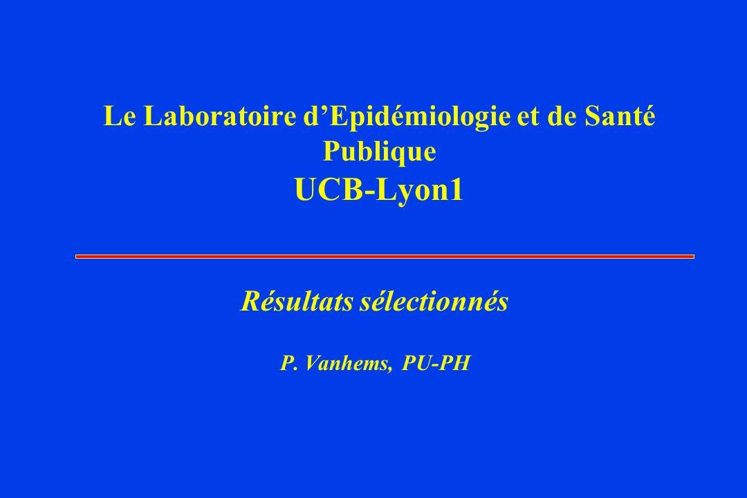 Le Laboratoire d'Epidémiologie et de Santé Publique UCB-Lyon1