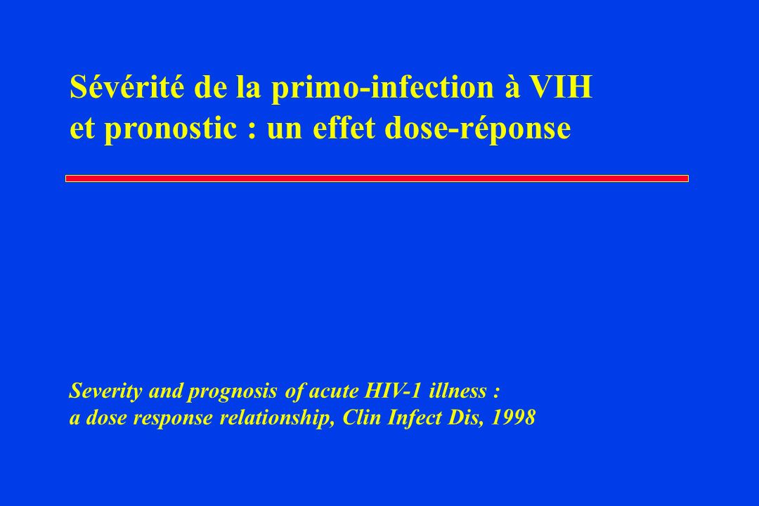 Sévérité de la primo-infection à VIH