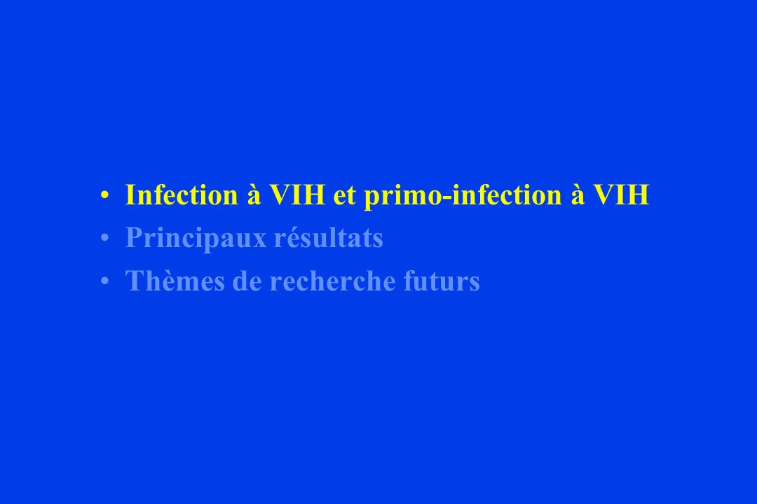 Infection à VIH et primo-infection à VIH