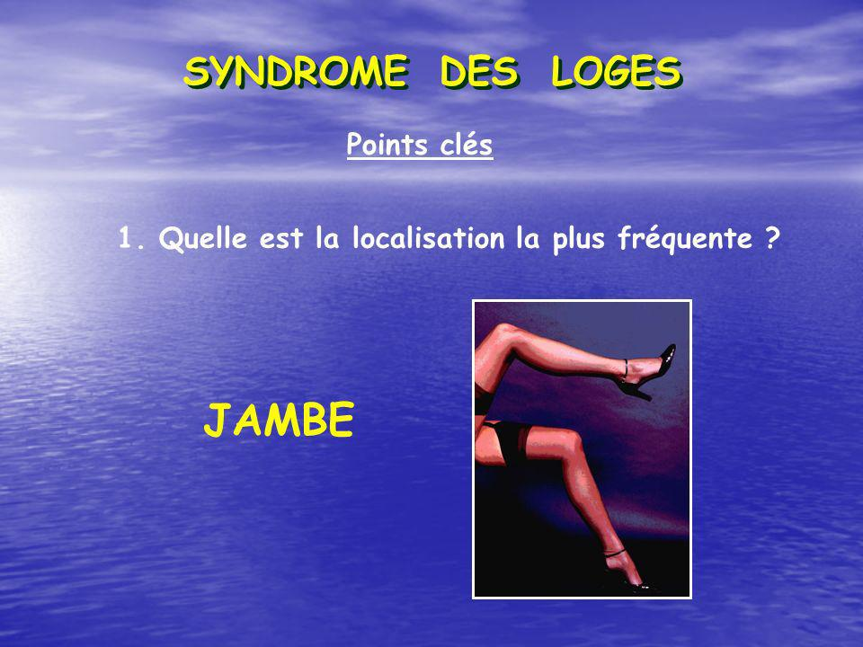 JAMBE SYNDROME DES LOGES Points clés