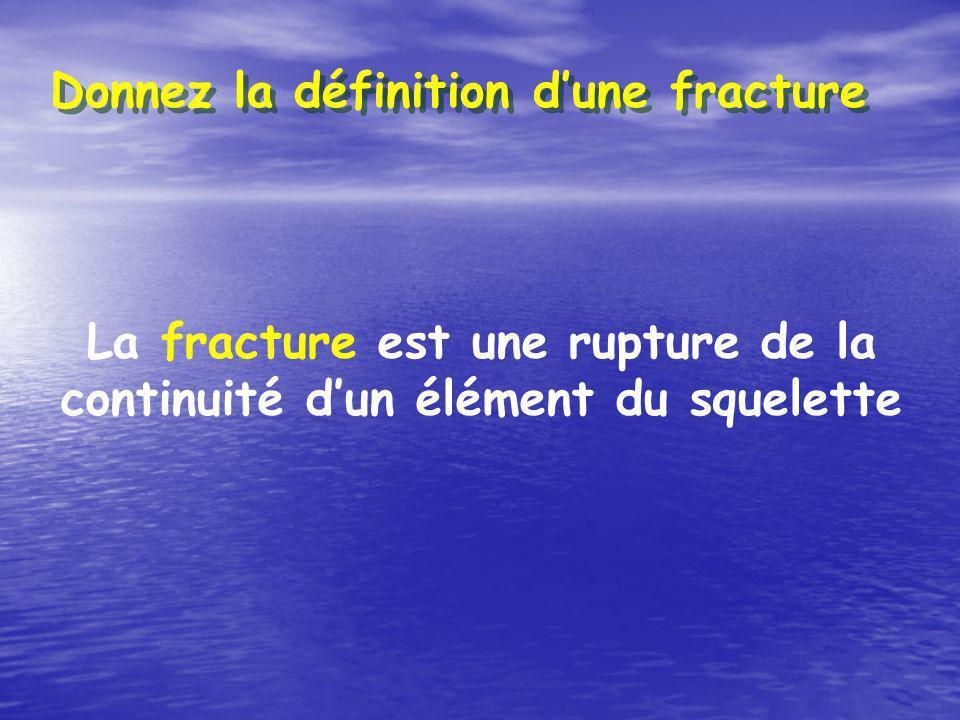 La fracture est une rupture de la continuité d'un élément du squelette