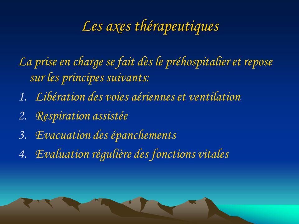 Les axes thérapeutiques