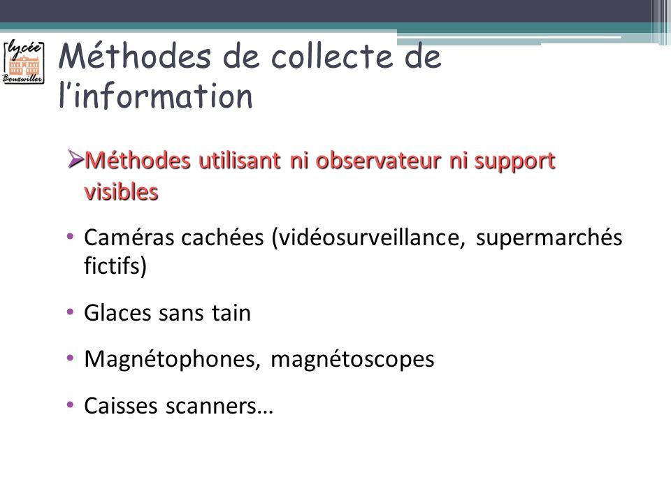Méthodes de collecte de l'information